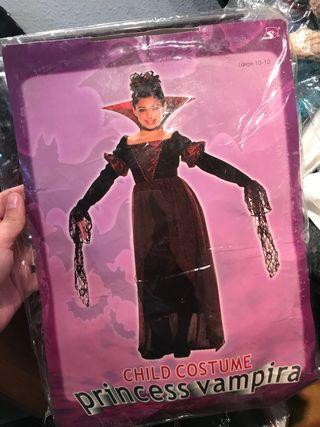 Disfraz de niña pequeña vampira