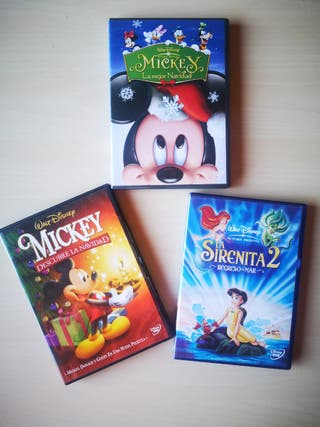 Lote de tres películas Disney. Las tres, por 5€.