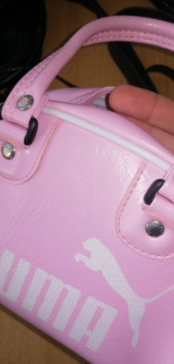 Bolso de mano, mini, color rosa palo, marca Puma