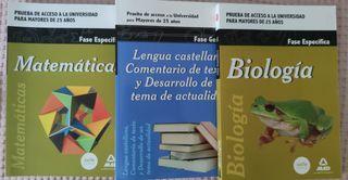 3 libros Acceso universidad mayores de 25