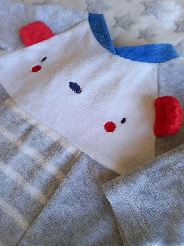 Pijama polar bebé 1 mes