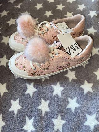 Zapatillas tenis zapatos Zara niña 36