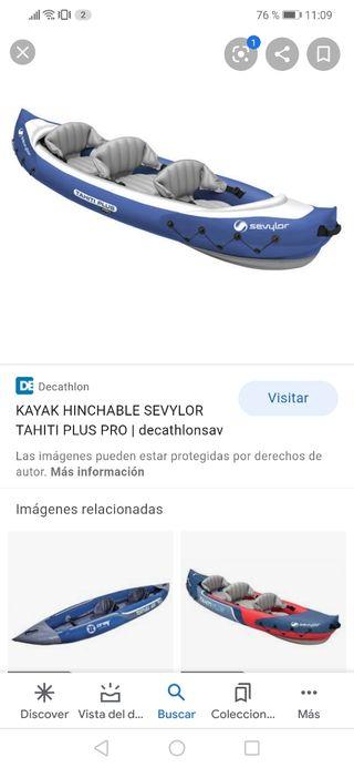 kayak triple hinchable seylor de decathlon.