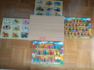 Nenittos cajón 4 puzzles de madera.