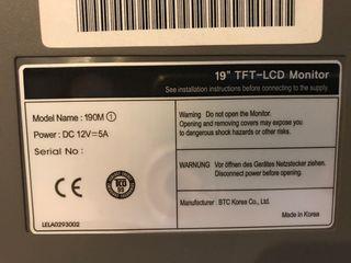 """Monitor TFT-LCD 19"""""""