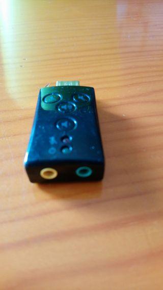 Tarjeta sonido USB 7.1