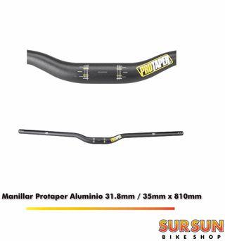 Manillar Protaper Aluminio 31,8mm o 35mm x 810