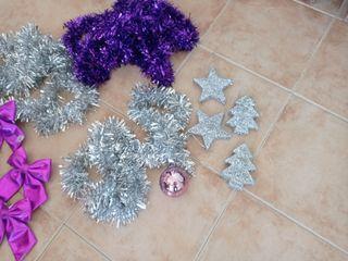 luces led 100 con 8 modos y adornos navideños