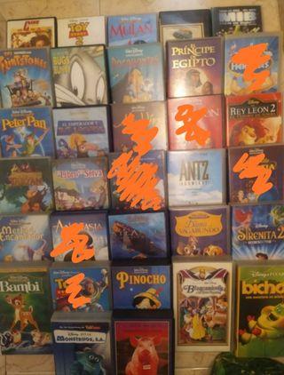 Películas Disney clásicas en VHS