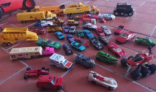Lote + d 45 coches y camiones antiguos años 80 90