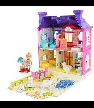 Casa de muñecas en miniatura