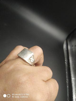 anillo plata hombre años 60
