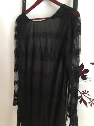 Vestido negro encaje Vero Moda