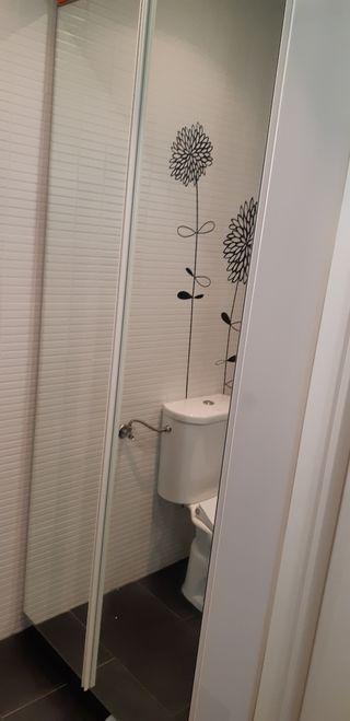 Dos armarios altos baño con espejo