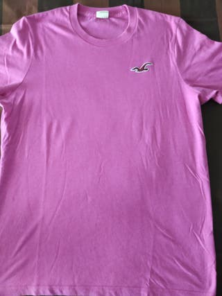 camiseta hombre rosa