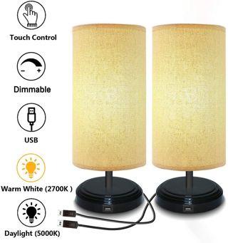Lámparas de mesita de noche con USB para camping