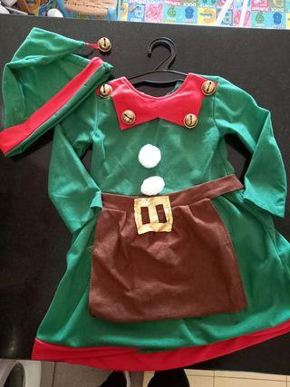 Disfraz Elfo Niña
