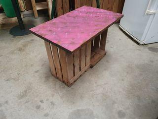 mesas de pallet , ideal para jardin/zonas chillout