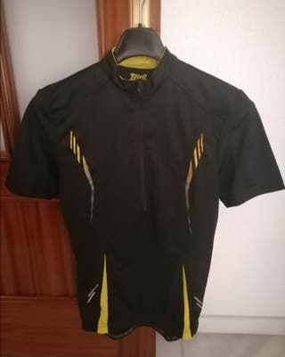 Maillot negro y amarillo manga corta