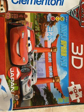 Puzzle 3D cars disney pixart
