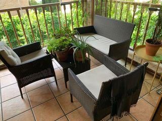 Conjunto de mobiliario pata jardin