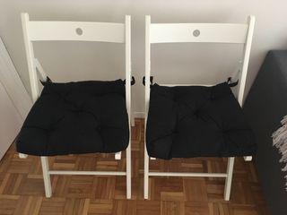 Sillas Terje IKEA con cojines
