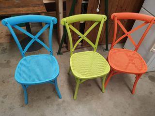 sillas de colores de aluminio interior / exterior
