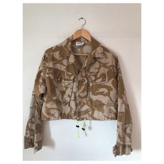 VINTAGE MIMETIC CROP JACKET