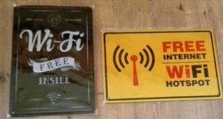 Cartel decoración WiFi gratis.