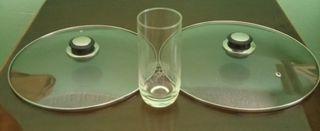 Vasos de tubo y Tapas de cristal