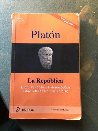 LIBRO PLATÓN. FILOSOFÍA. BACHILLERATO.