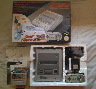 Consola Super Nintendo Pack Street Fighter II
