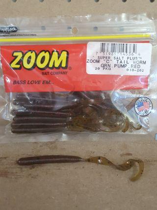 señuelo pesca zoom c tail worm