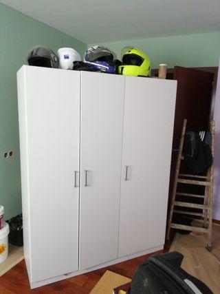 armario madera lacado blanco
