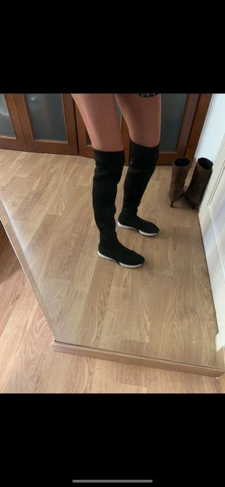Zapatillas bota tipo calcetín