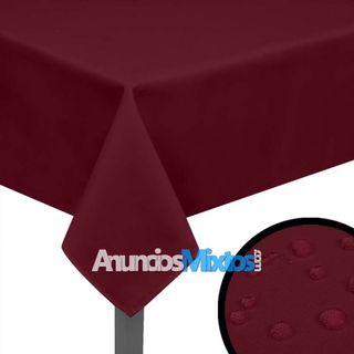 Manteles de mesa 5 unidades borgoña 250x130 cm