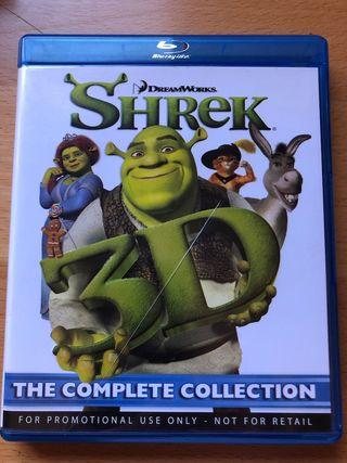 Colección completa SHREK, Blue Ray, 3D