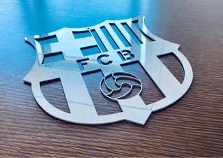 Escudo F. C. Barcelona Metal 25 cm