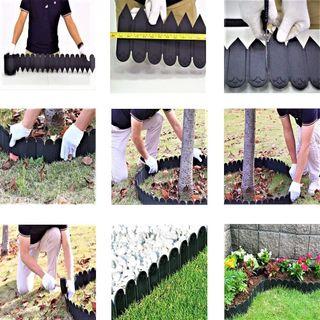 Borde de jardín 10 metros color negro