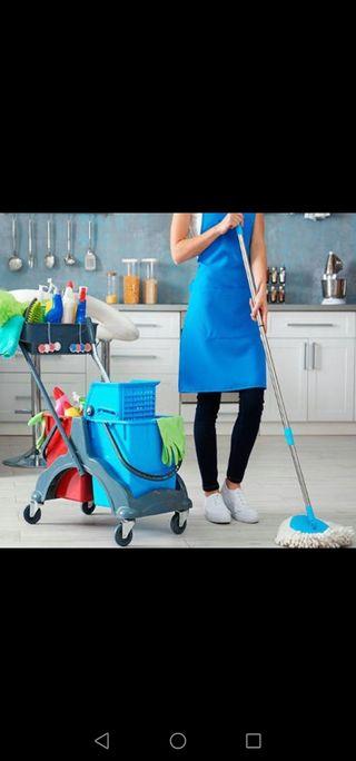 mujer se ofrece para limpieza de casa