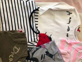 7 camisetas niña manga larga