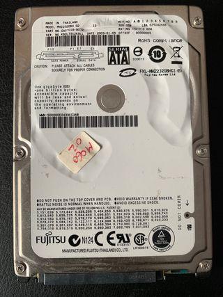 Disco duro 2,5 320Gb Toshiba