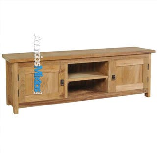 Mueble para TV de madera maciza de teca 120x30x40