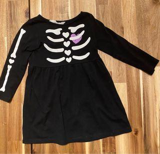 Disfraz niña esqueleto Halloween