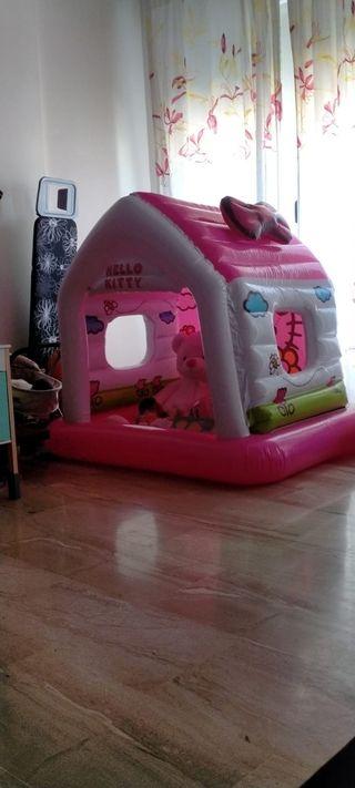 casa de hello kitty inchable niños