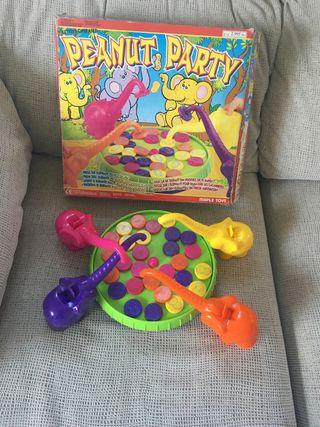 Juego infantil peanut party elefantes