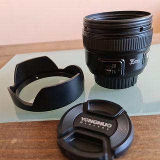 objetivo focal fija 35mm YONGNUO