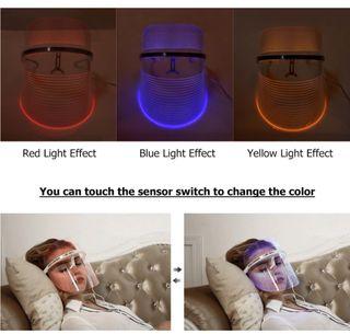 mascara facial terapia color led
