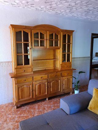 Conjunto provenzal muebles salón comedor madera