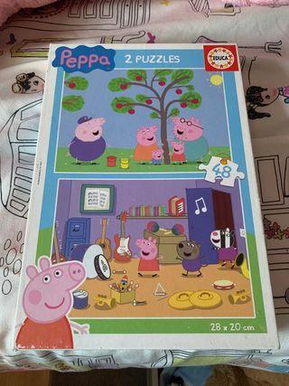 Puzzle pepa pig doble